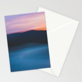 Mountain Sunset Abstract Stationery Cards