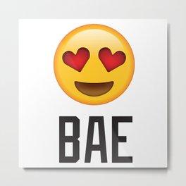 Bae Heart Eyes Emoji Metal Print