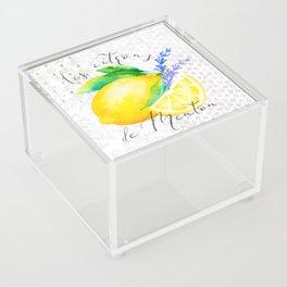 Les Citrons de Menton—Lemons from Menton, Côte d'Azur Acrylic Box