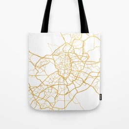 MADRID SPAIN CITY STREET MAP ART Tote Bag
