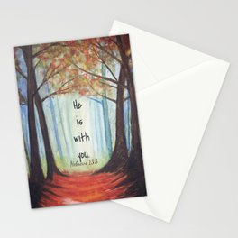 He is with you Stationery Cards