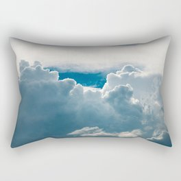 View of heavy clouds from above Rectangular Pillow