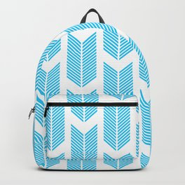 Simple Aqua and white arrow chevron - for your summer Backpack