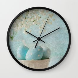 Limpet shell color eggs  Wall Clock