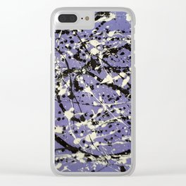 Purple Carnage Clear iPhone Case