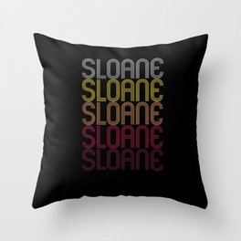 Sloane Name Gift Personalized First Name Throw Pillow