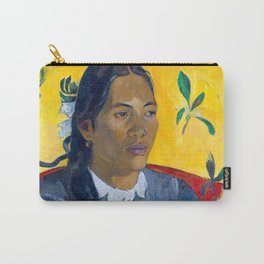 """Paul Gauguin """"Tahitian Woman with a Flower (Vahine no te tiare)"""" Carry-All Pouch"""