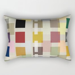 MID-CENTURY COLOR BLOCK LINEN Rectangular Pillow