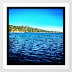Blue sky, blue water. Art Print