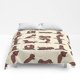 Dachshund yoga Comforters