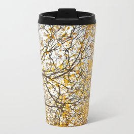 Orange Metal Travel Mug