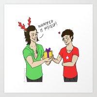Lourry Christmas Art Print