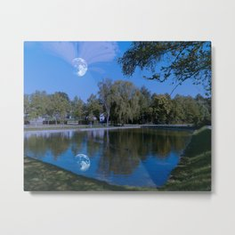 Castle lake Metal Print