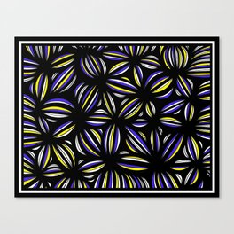 Grosland Abstract Expression Yellow Blue Canvas Print