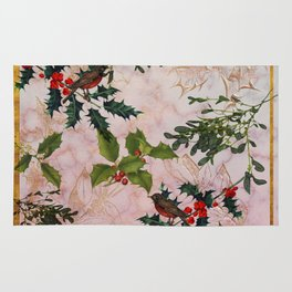 Holly and Mistletoe Rug