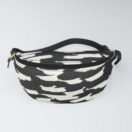 Tribal Paint - Ivory on Black Fanny Pack