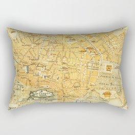 Vintage Map of Athens Greece (1894) Rectangular Pillow