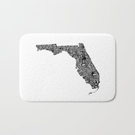 Typographic Florida Bath Mat