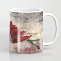 asia Mugs featuring asia tulip by lucyliu