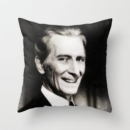 Peter Cushing, Vintage Actor Throw Pillow