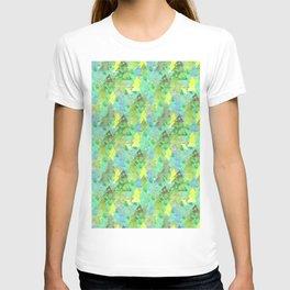 watercolor christmas trees seamless pattern T-shirt