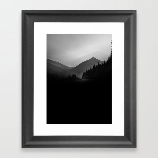 Dusky Mountains Framed Art Print