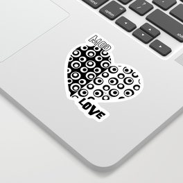 Mod Love Black/White Dots Circles Sticker