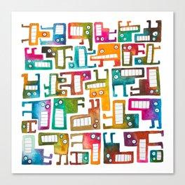 Tetris Monsters Canvas Print