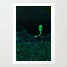 Aloft A Mountain [GREEN] Art Print
