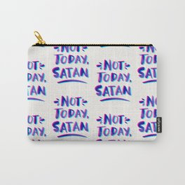 Not Today, Satan – Cyan & Magenta Palette Carry-All Pouch