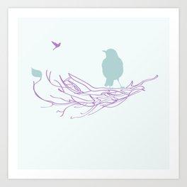 Nest with Bird Art Print