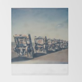 Cadillac Ranch - Route 66 Throw Blanket