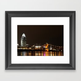 Cincinnati Roebling Bridge Framed Art Print