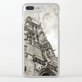 Gothic tower against the sky Clear iPhone Case