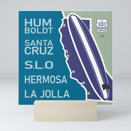 Surfing 101 Mini Art Print