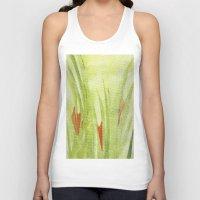 flora Tank Tops featuring flora by Louisa Stickney-Keats