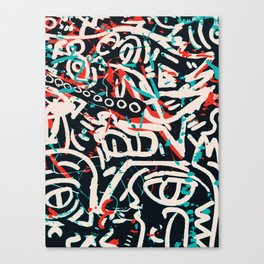 Street Art Pattern Graffiti Post Canvas Print