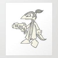 Raptorz Spy Art Print