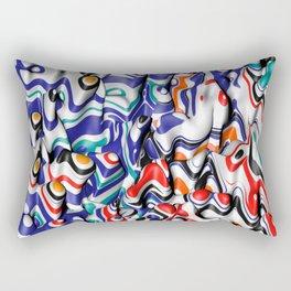 trippy pop fluid Rectangular Pillow