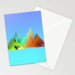 MTB Moutains Colors Stationery Cards