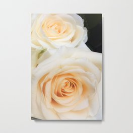 Parisian Rose Garden Cream Number 3 Metal Print