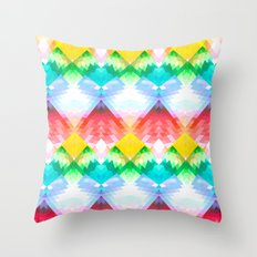 Crystal Rainbow Throw Pillow