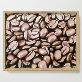 roasted coffee beans texture acrstd Serving Tray