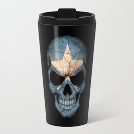 Dark Skull with Flag of Somalia Travel Mug