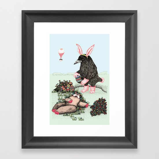 Crow Serie :: Easter Crow Framed Art Print