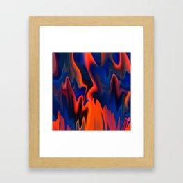 Fire Camp Framed Art Print