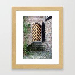 open door is closed Framed Art Print