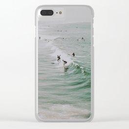 lets surf x / venice beach, california Clear iPhone Case