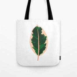 Rubber Tree Leaf Tote Bag