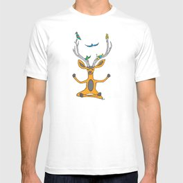 Yoga Antlers For Birds T-shirt